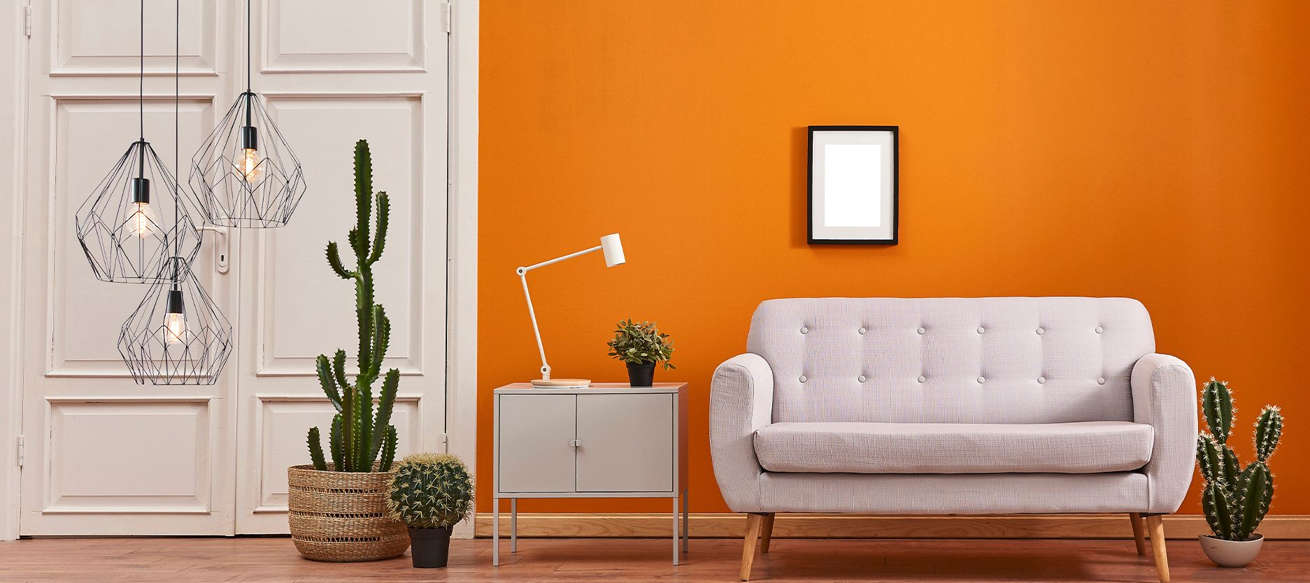 Awesome Home Paint Tricks Using Tangy Orange