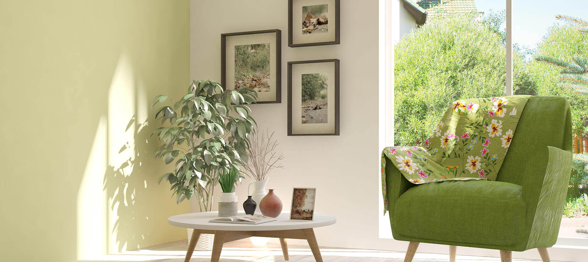 Incorporate Greens in your Living Room and Feel Closer to Nature