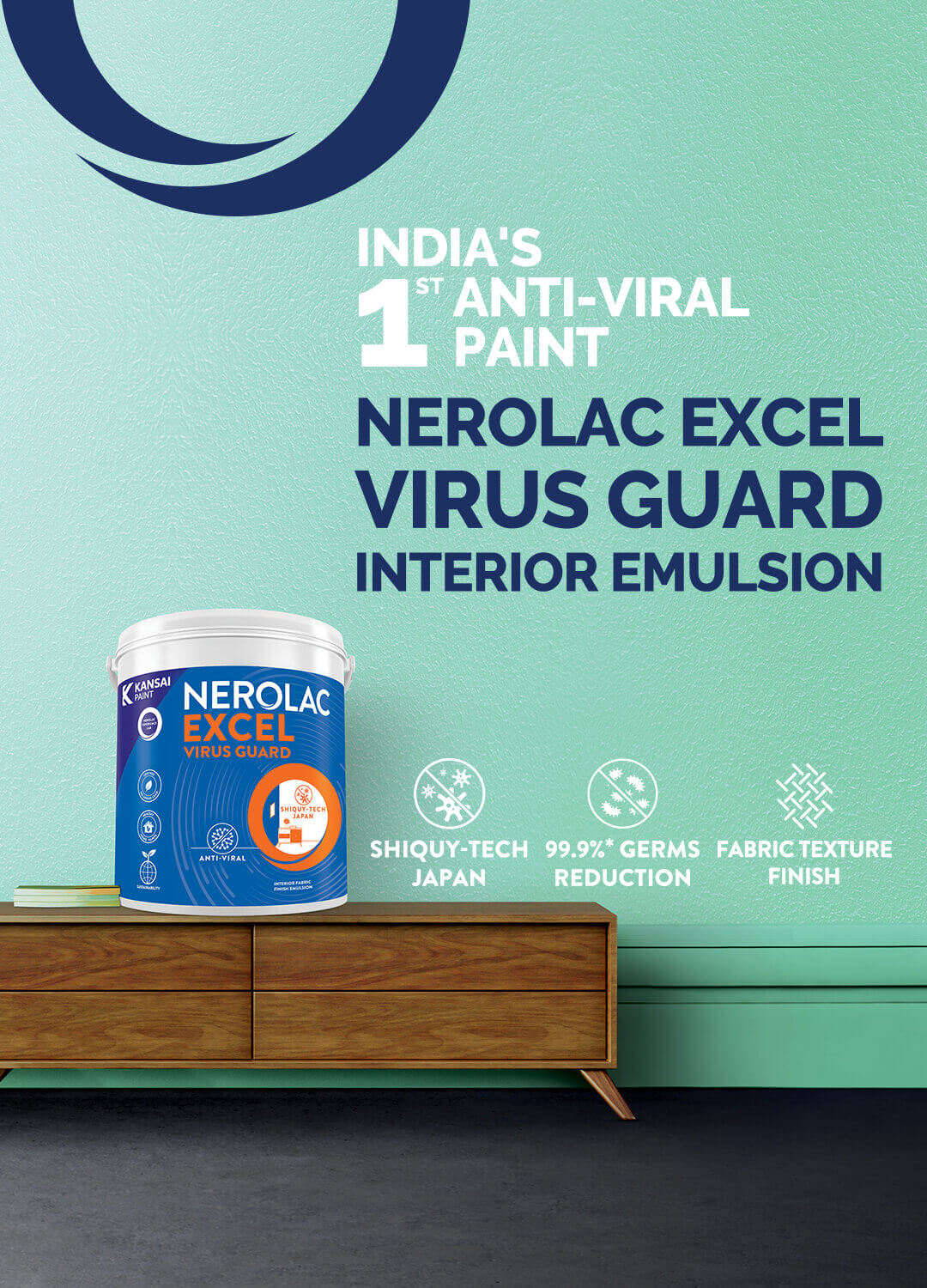 Nerolac Excel Anti-Bacterial Paint