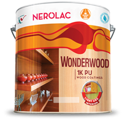 NEROLAC WONDERWOOD 1K PU CLEAR WOOD COATINGS
