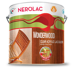 NEROLAC WONDERWOOD CLEAR ACRYLIC LACQUER WOOD COATINGS