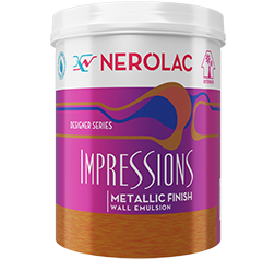 Nerolac Impressions Metallic Finish - Wall Emulsion (Designer Series)