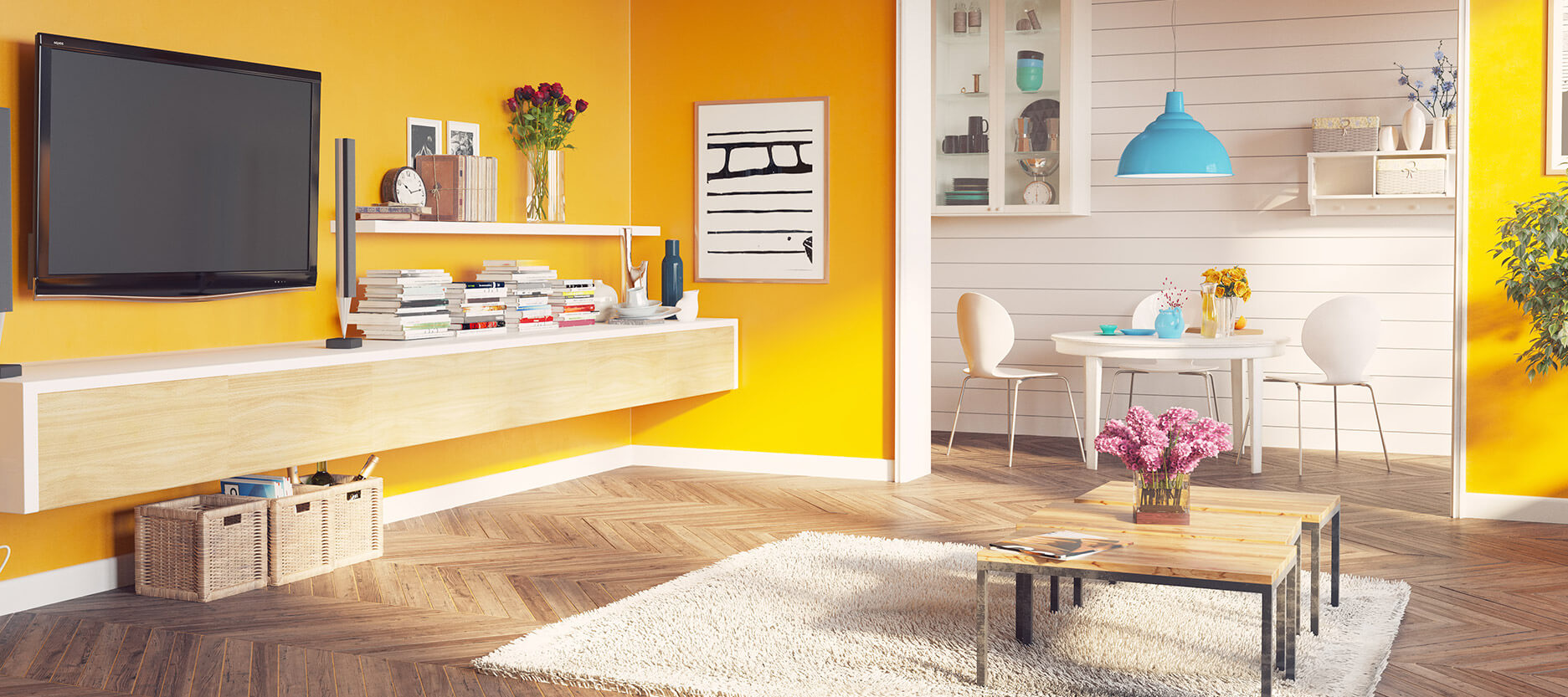 Bright and Bold Colour Ideas for Your Home for Summer