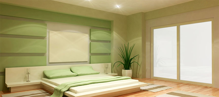 Best Two Colour Combination Ideas for Bedroom Walls | Kansai ...