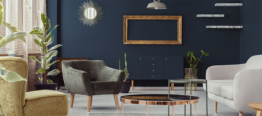 Two Colour Combination Ideas for Awesome Living Room Decor
